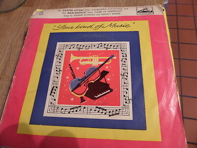 "Jeanne Dusseau & Nancy Evans Your kind Of Music 7"" EP45rpm"