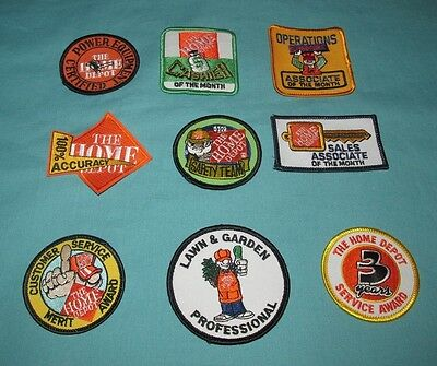 Lot Of 9 New = Patch / Badge = Home Depot Embroidered