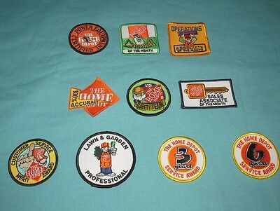 Lot Of 10 New = Patch / Badge = Home Depot Embroidered
