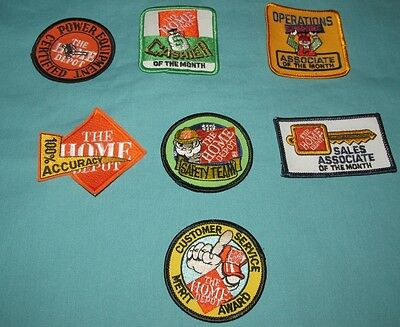 Lot Of 7 New = Patch / Badge = Home Depot Embroidered
