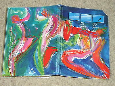 "Swiss SBB Trifold Ticket Wallet 1993 Design ""Swiss Winter Sound"" - Linda Graedel"