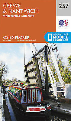 Crewe Nantwich Whitchurch Tattenhall Explorer Map 257 Ordnance Survey 2015
