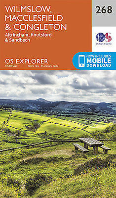 Wilmslow Macclesfield and Congleton Explorer Map 268 Ordnance Survey 2015