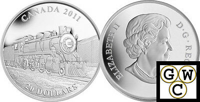 2011 'D-10 Locomotive' Proof $20 Silver 1oz .9999 Fine (12830) (NT)
