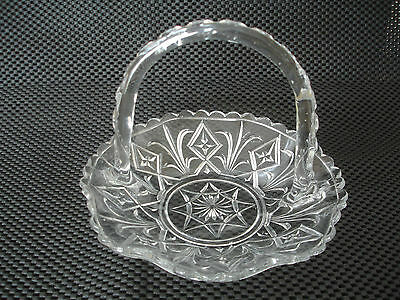 Vintage Glass Bowl / Dish With Handle. Beautiful Condition.