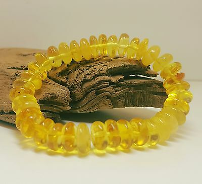Bracelet Baltic Amber Natural Stone Nr143 10,1g Butterscotch Rare Exlusive Old