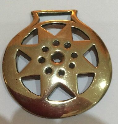 Cast  Horse Brass , 8 Pointed Star.