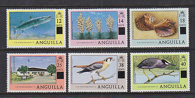 Anguilla 1979 Used Mint MLH Full Part Set Definitives Overprints Birds Landmarks