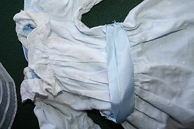 American Girl Doll Nellie Retired Meet Outfit Dotted Swiss Blue Dress ONLY