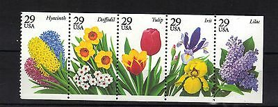 United States.flowers Booklet Pane Mnh