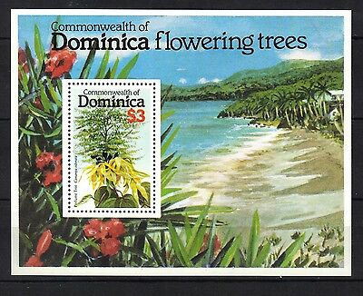 Dominica.flowering Trees .mini Sheet Mnh 1979