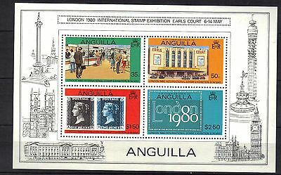 Anguilla. London Stamp Show Mini Sheet 1980 Mnh