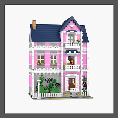 LEGO Custom Modular Ladies Apartment - INSTRUCTIONS ONLY!