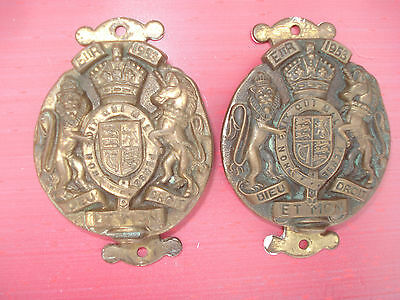 2 Vintage Brass Doorknocker's
