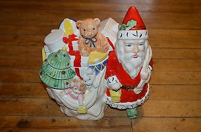 RARE Santa Claus Toy Bag Cookie Jar Sigma the Tastesetter-old Father Christmas