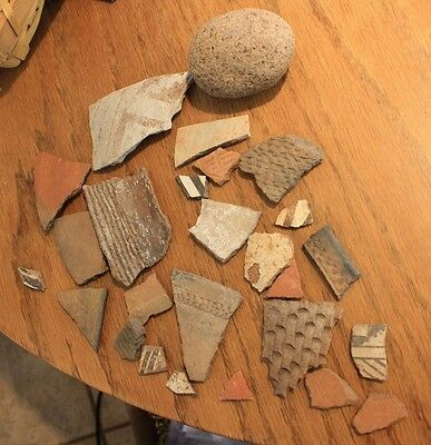Mimbres Indian Pottery shards (410)
