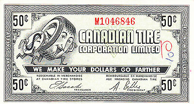 Canada Canadian Tire GAS BAR  1962 50 Cents M104