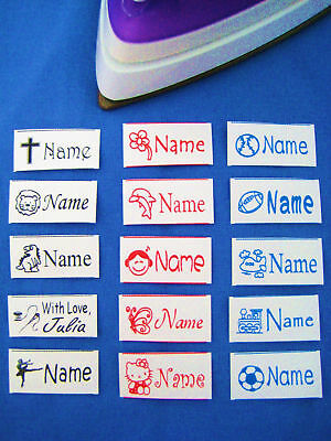 60 Personalized Iron-on Business Labels-Clothe, Shoe, Blanket, Pillow Case