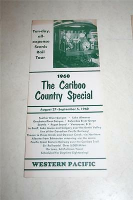 Vintage 1960 The Cariboo Country Special Brochure Western Pacific Railroad RR