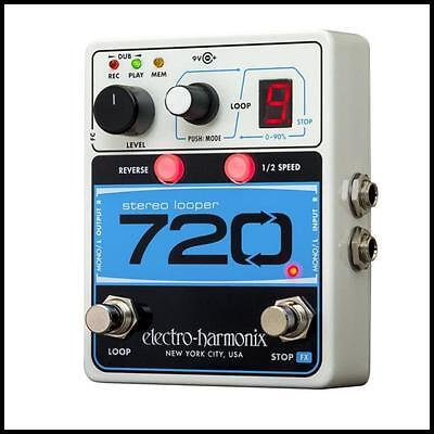 Electro-Harmonix 720 Stereo Looper Guitar Effects Pedal 12 minutes of Recording