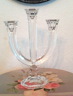Beautiful Nachtmann Crystal Glass Candelabra Height 11 ins