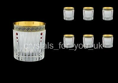 Whisky set ( 2x glasses) liqueur tumbler gift antique golden decor 132