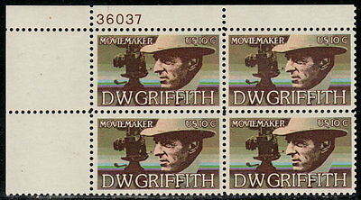 US #1555 10¢ D.W. Griffith Plate Block MNH