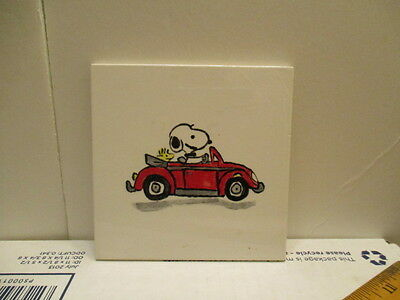 Snoopy Peanuts Ceramic Tile Snoopy Woodstock