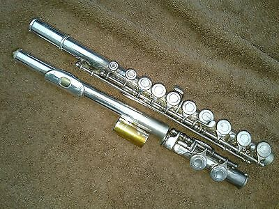 Artley Eb silver plated flute, American made