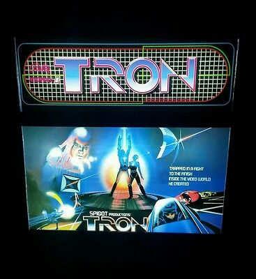 TRON Marquee & Movie Poster Mini Arcade Sign for MAME Game Room Arcade Decor