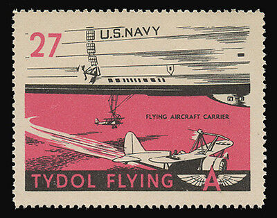 """Tydol Flying """"a"""" Poster Stamps Of 1940 - #27, Flying Aircraft Carrier"""