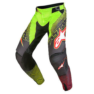2017 Alpinestars Mens Techstar Factory Pants - A2 Torch Limited Edition Fluro Ye