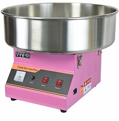 Electric Commercial Cotton Candy Machine / Candy Floss Maker Pink VIVO (CA...NEW