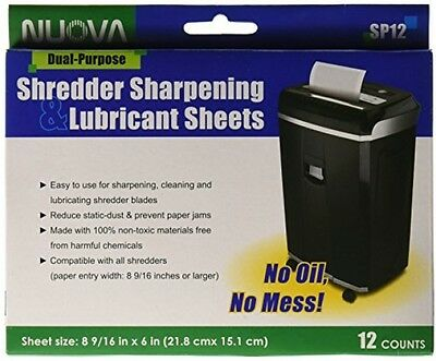 Nuova SP12 Shredder Sharpening and Lubricant Sheets, 12 Count