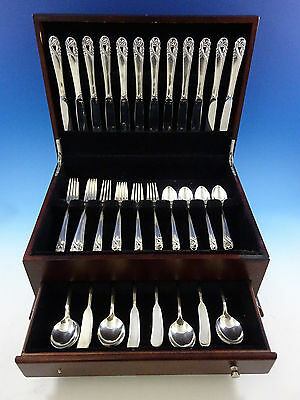 Spring Glory by International Sterling Silver Flatware Set 12 Service 72 Pieces