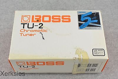 Boss TU-2 Chromatic Tuner Guitar Effects Pedal (CARDBOARD BOX ONLY) #3626