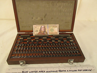(78) Pc, MITUTOYO Gage Block SET # 516-902, Grade 2, Many Replaced, VG Overall