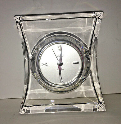 Mikasa Lead Crystal Clock Germany Contemporary
