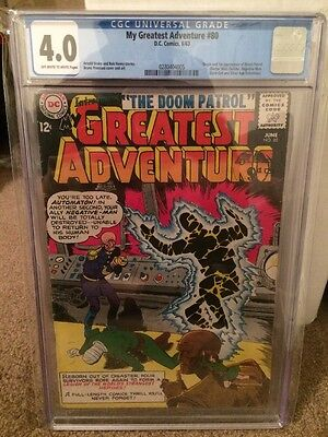 CGC 4.0 My Greatest Adventure #80 1st Appearance Of The Doom Patrol First X-Men