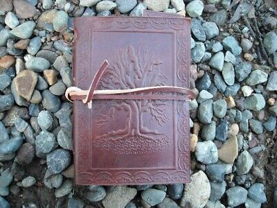 Handmade cotton paper Leather journal Tree of Life - Small Celtic