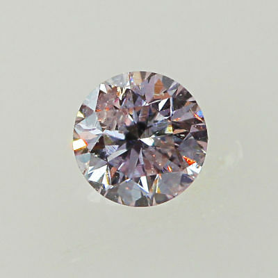 Pink Natural Diamond 1/2 point Ct Light Color Round Brilliant Cut  Loose 0.5 mm
