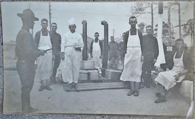 WWI US Army Kitchen Mess Cooks Soldier Original Photo Photograph