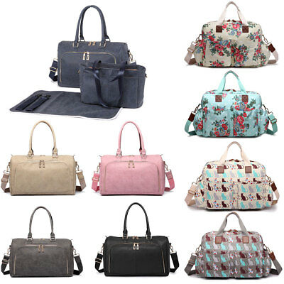 Maternity Mummy changing Bag Baby Nappy Diaper Shoulder Handbag Wipe Clean