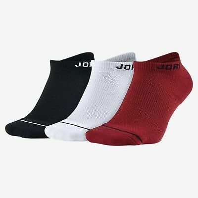 345e53a016b NIKE JORDAN JUMPMAN Dri-Fit No Show Socks Multi 3 Pair SX5546-011 Sz ...