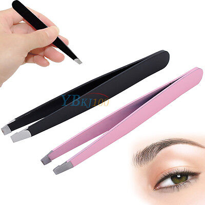 Professional Stainless Steel Tip Eyebrow Tweezers Hair Removal Makeup Tool TP
