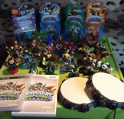 Large Bundle Of 22 Skylanders Supercharger, Trap Team And Swap Force Plus Portal