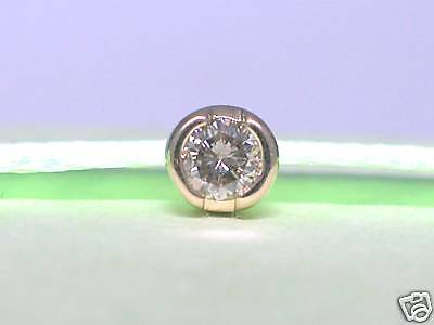 Diamant Brillant Single Ohrstecker 585 Gelbgold 14Kt Gold Brillant 0,10ct