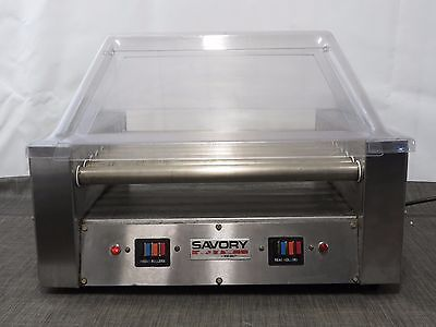SAVORY MERCO SG22N Commercial Roller Grill Cooker Cooks 30 Machine W/Cover