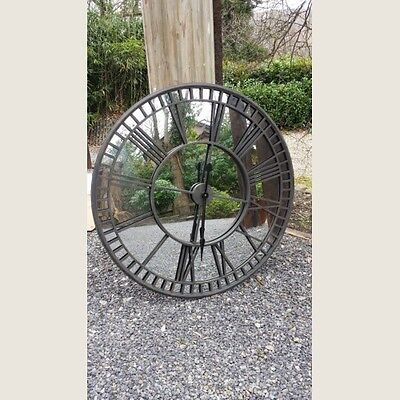 Extra Large High Quality  Iron Wall Clock with Mirror