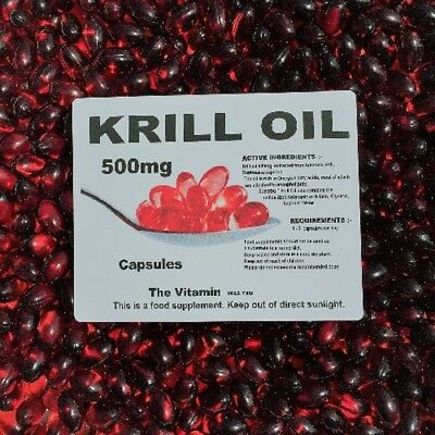 The Vitamin Superba Red Krill Oil 500mg 60 Capsules - Bagged